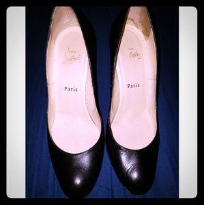 "Black 2""heel Christian Louboutins"